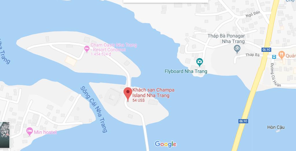Vị trí Cham Oasis Nha Trang Resort Condotel