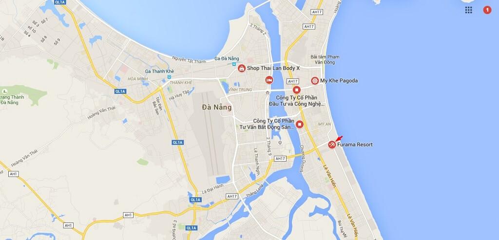 Vị trí Furama Condotel Đà Nẵng