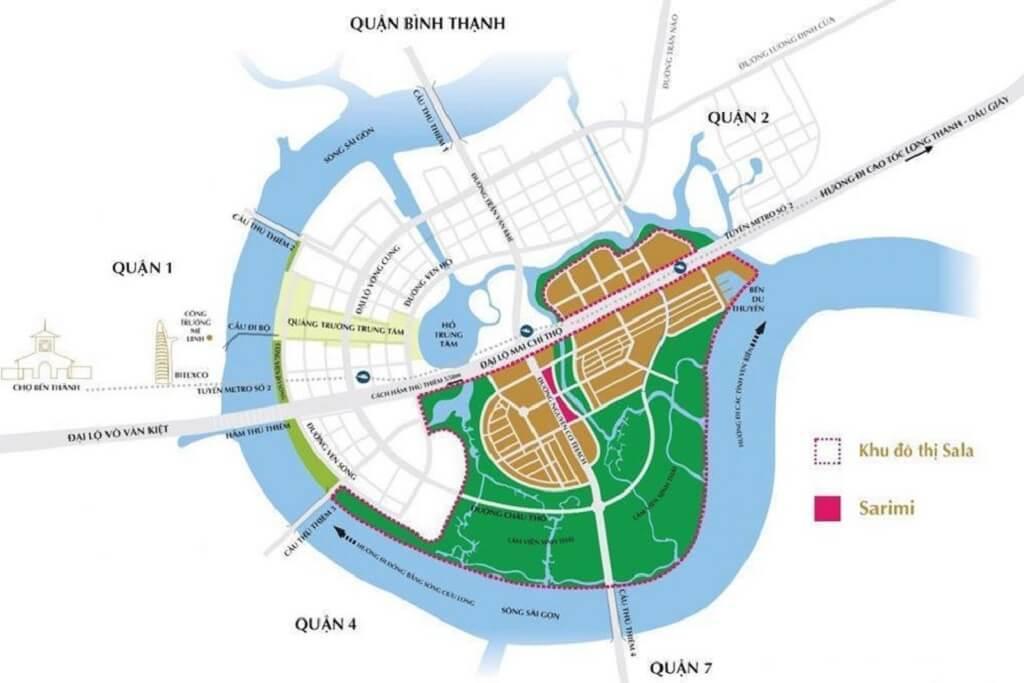 Vị trí khu đô thị Sala