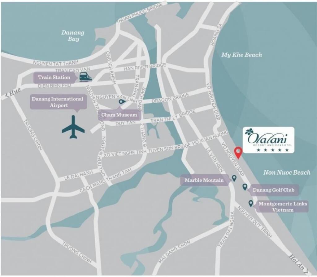 Vị trí Olalani Resort & Condotel