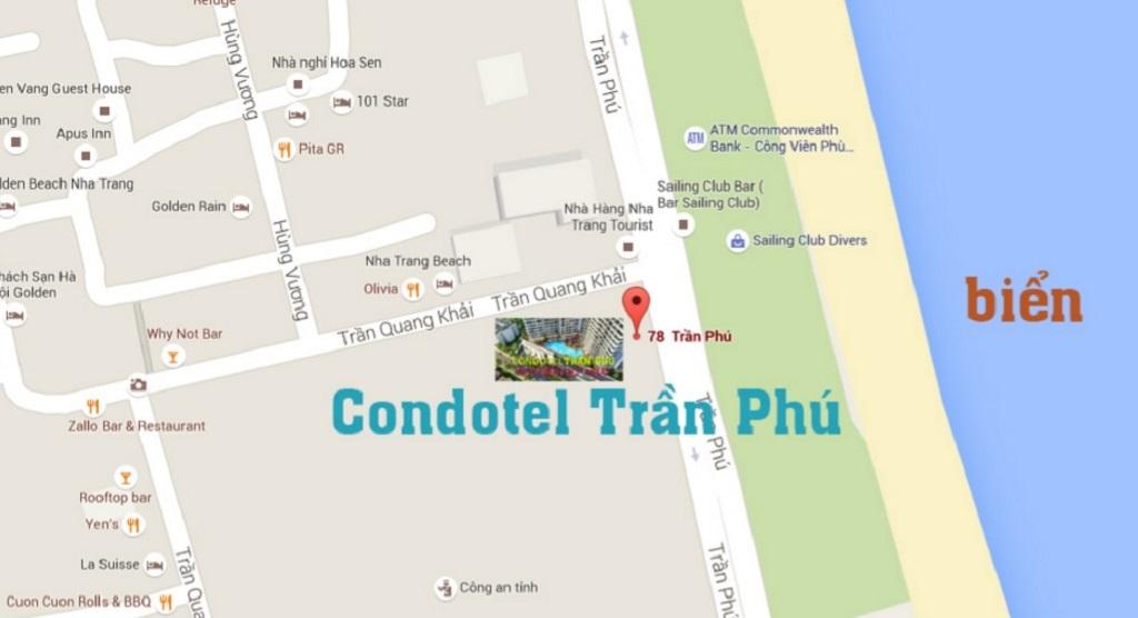 Vị trí Vinpearl Condotel Beachfront Nha Trang