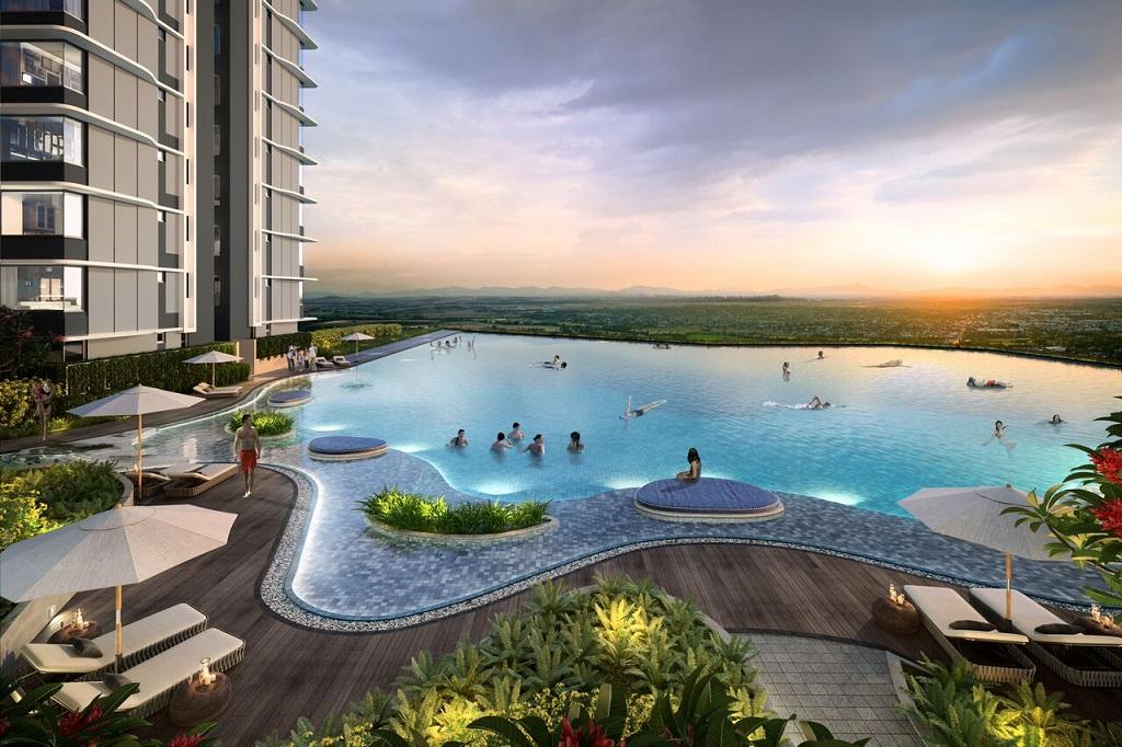 Bể bơi khu đô thị Gamuda