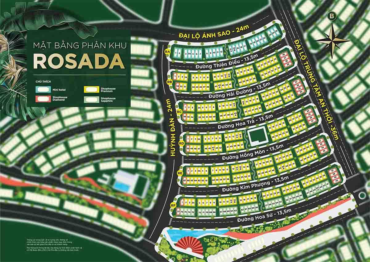 Mặt bằng phân khu Rosada