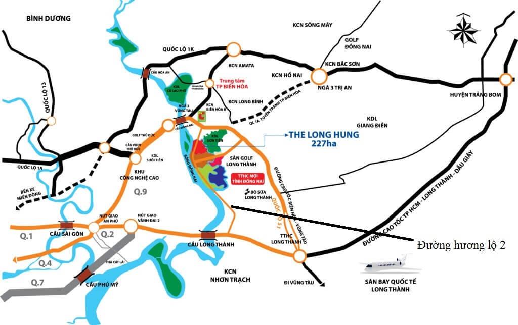 Vị trí khu đô thị Long Hưng